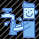 cleaning, hand, hand washing, men, people, washing