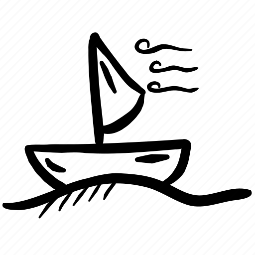 boat, sail, sailing, sea, ship icon