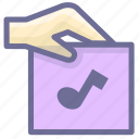 attachment, file, music icon