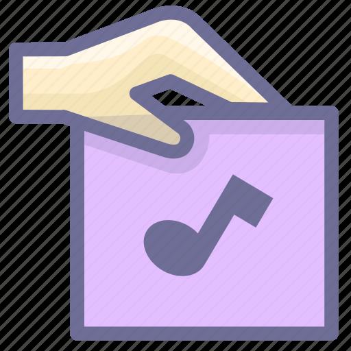 attachment, file, music icon