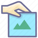 hand, photo, picture, picture attachment icon