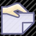 attachment, bidding, document, file icon