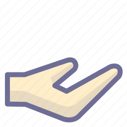 give, hand, share, show icon