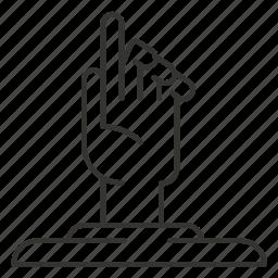 base, finger, fingers, gesture, hand, pedestal icon