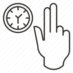 finger, fingers, hand, pick, schedule, time icon