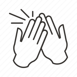 clap, finger, fingers, hand, hands, high five icon
