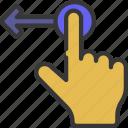 slide, left, hand, palm, point