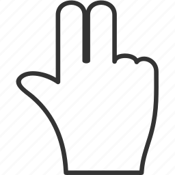 finger, hand, people, person icon