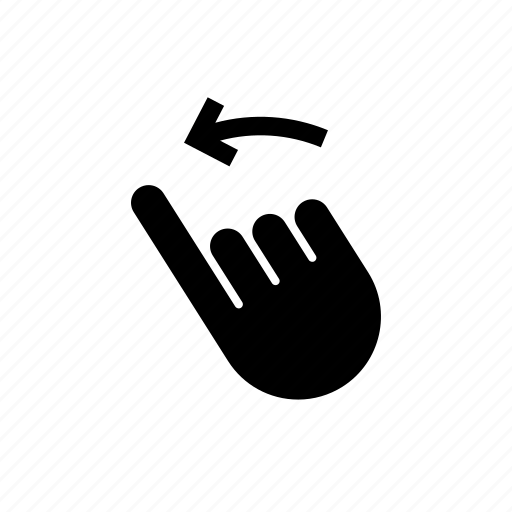 arrow, down, gesture, hand, left, swipe, touch icon