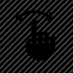 arrow, direction, hand, left, pointer, right, swipe icon
