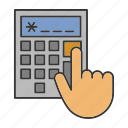 accounting, business, calculate, calculator, counting, economy, finance icon