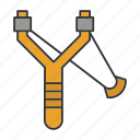 catapult, handmade, shot, sling, slingshot, toy, weapon icon