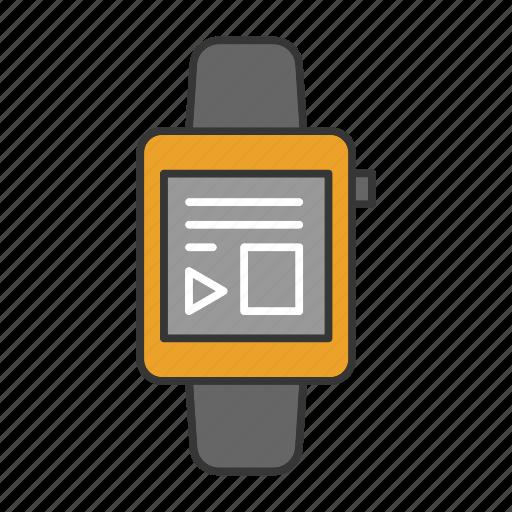 Fitness, gadget, smart, smartwatch, touchscreen, watch, wristwatch icon - Download on Iconfinder