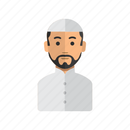 avatar, man, moslem, stock, user icon