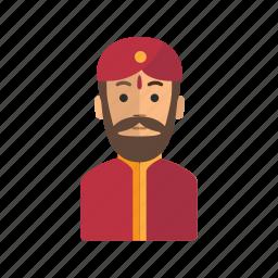avatar, delhi, india, man, person, user icon