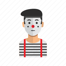 avatar, man, pantomime, profile, stock icon