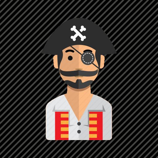 avatar, captain, jack, man, user icon