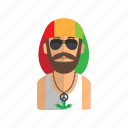 avatar, man, music, people, rasta icon
