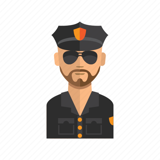 avatar, business, man, police, profile, stock icon