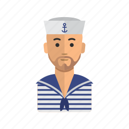 avatar, human, man, sailor, stock, user icon