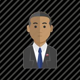 avatar, man, obama, people, president icon