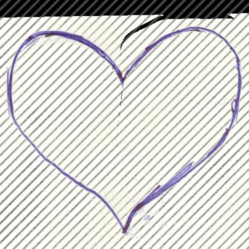 core, handwritten, heart, pen written, soul icon