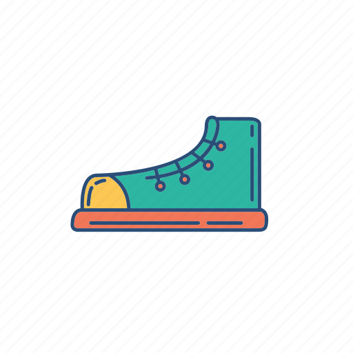 hangout, shoe, sneakers, step icon