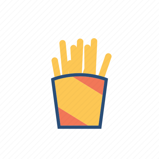 food, fries, hangout, junk icon