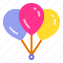 balloons, birthday, decoration, party, up icon