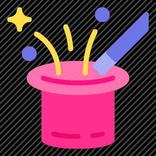 hat, magic, magician, show, trick icon