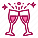 celebration, cheers, drink, glass, party icon