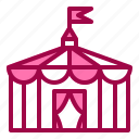 building, circus, holiday, show, tent icon