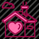 building, family, happy, house, love icon