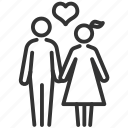 couple, family, happy, love, marriage, mate icon