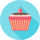 birthday, cake, dessert, face, happy, party icon