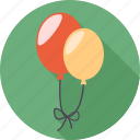 balloon, birthday, cake, dessert, face, happy, sad icon