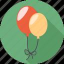balloon, birthday, cake, dessert, face, happy, sad icon