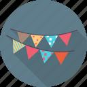 birthday, cake, celebration, decorative flags, emoticon, emotion, happy icon