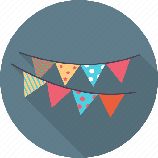 birthday, cake, celebration, decorative flags, emoticon, emotion, happy icon
