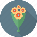 birthday, celebration, emoticon, flower, happy, party, plant icon