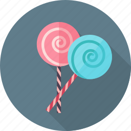 birthday, cake, emotion, happy, party, twisted candy icon