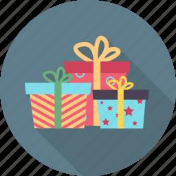 birthday, cartoon, expression, gift box, happy, party, smiley icon