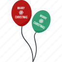 balloon, xmas icon
