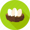 bird, chicken, easter, egg, food, hen, nest icon
