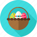 basket, celebration, easter, easter egg, egg, greeting, holiday icon