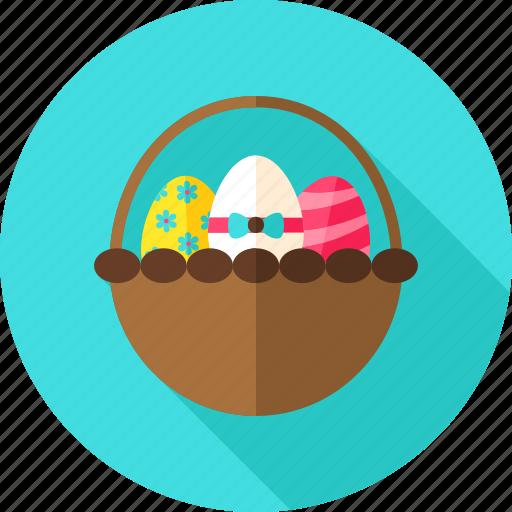 basket, celebration, easter, easter egg, egg, greeting, holiday icon