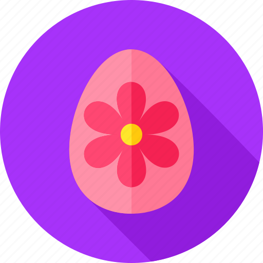 decor, easter, easter egg, egg, flower, greeting, holiday icon