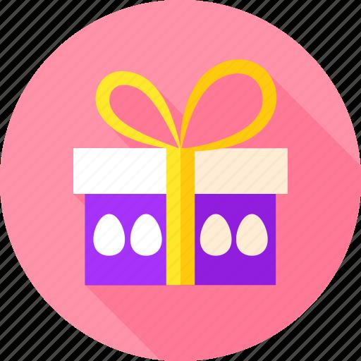 box, easter, egg, gift, hen egg, holiday, present icon