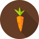 carrot, farm, food, nature, organic, spring, vegetarian icon