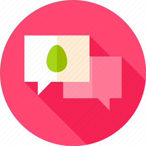 bubble, chat, easter, egg, holiday, message, speech icon